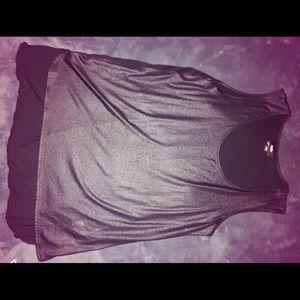 Mossimo Black Blouse/Tank Top w/ Sheer back